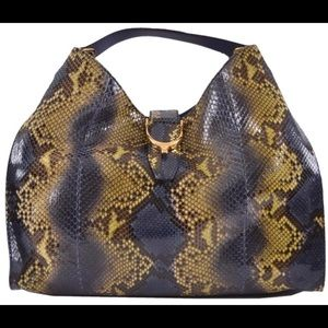 Gucci Stirrup New Limited Edition Python Hobo Bag